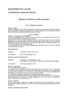 règlement d'utilisation des salles polyvalente